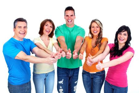 Photo pour Group of happy people  - image libre de droit