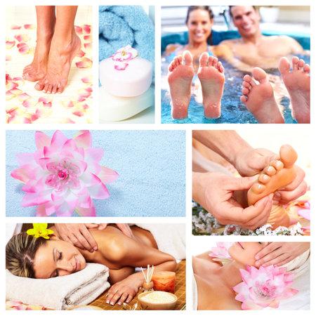 Beautiful Spa massage collage