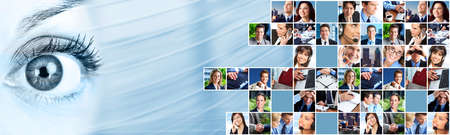 Photo for Business people team collage  - Royalty Free Image