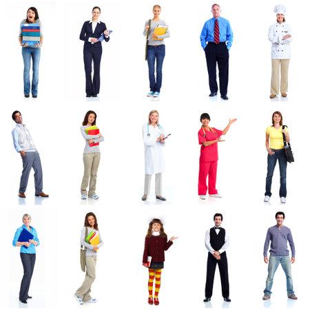 Photo pour Group of workers people set  - image libre de droit