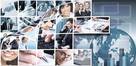 Photo pour Business team collage background  - image libre de droit