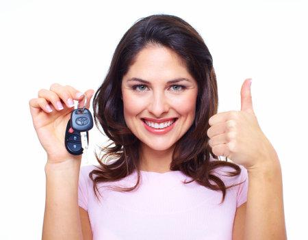 Woman with a car keys