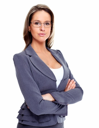 Photo for Business woman with eyeglasses  - Royalty Free Image
