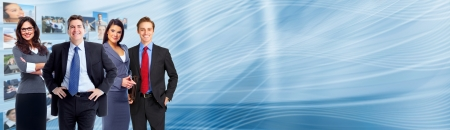 Photo pour Business collage background. Business people group banner. - image libre de droit
