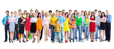 Foto de Big family people group isolated white background  - Imagen libre de derechos