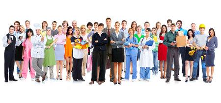 Photo pour Group of workers people  - image libre de droit