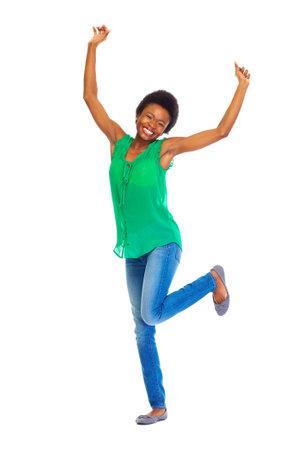 Photo pour Happy African woman - image libre de droit