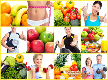 Foto de Weight loss and diet collage. - Imagen libre de derechos