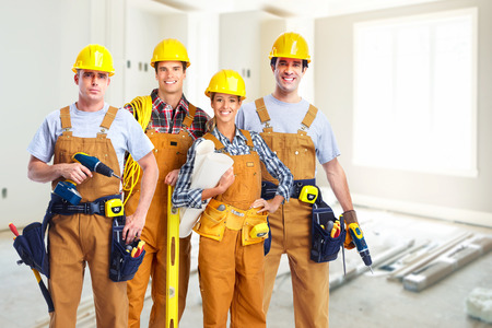 Photo for Group of construction workers. - Royalty Free Image