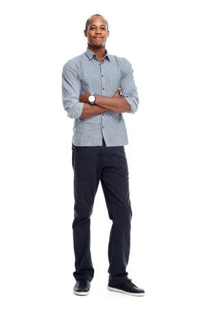 Stylish African-American black man