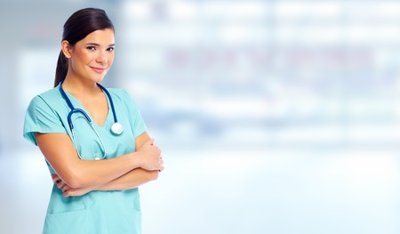 Photo for Health care medical doctor woman. - Royalty Free Image