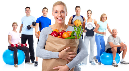 Foto de Group of fitness people. Healthy lifestyle concept. - Imagen libre de derechos