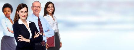 Foto de Group of professional business people. Teamwork and education background. - Imagen libre de derechos