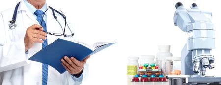 Photo pour Doctor hands. Medical health care research concept background. - image libre de droit
