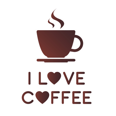 I love coffee, A cup of coffee