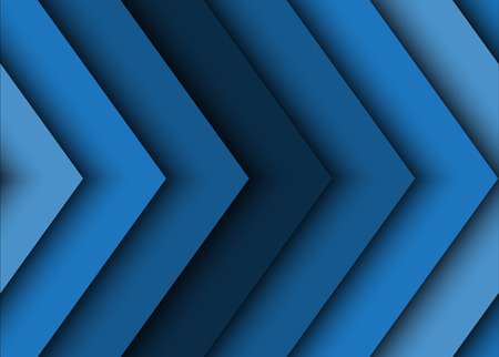 Blue abstract background of arrows