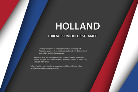 Illustration pour Vector background with Dutch colors and free grey space for your text, Dutch flag, Made in Holland, Dutch icon and symbol - image libre de droit