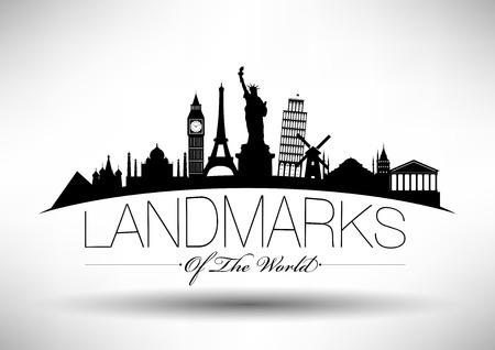 Landmarks of the World Infograpghic Design