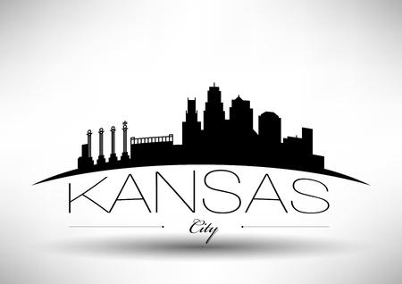 Illustration pour Vector Graphic Design of Kansas City Skyline - image libre de droit