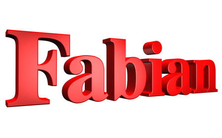 3D Fabian text on white background