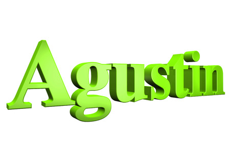 3D Agustin text on white background