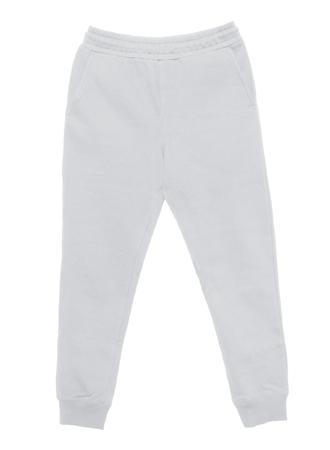 Foto de Blank training jogger pants color white front view on white background - Imagen libre de derechos