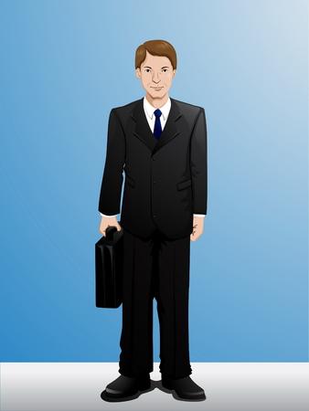Illustration pour Cartoon Businessman - image libre de droit