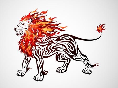 Illustration pour Flame Lion - image libre de droit