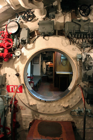 compartment in the old submarine