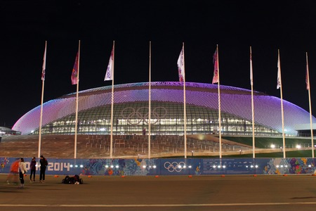 SOCHI, RUSSIA - FEBRUARY 9, 2014: the Bolshoy Ice Dome in the Olympic Park of the XXII Olympic Winter Games on February 9, 2014 in Sochi.