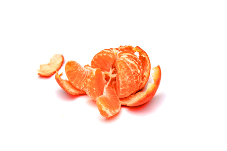 Foto de Ripe mandarin fruit on white background - Imagen libre de derechos