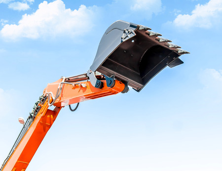 Photo for Excavator bucket against the sky - Royalty Free Image