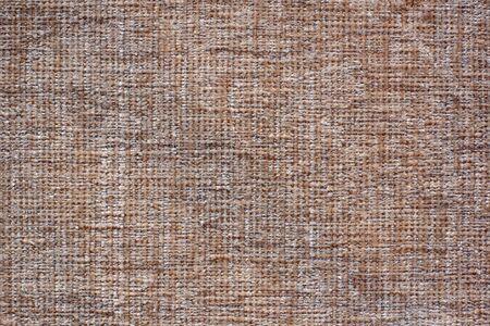 Photo pour Color fabric texture. Soft brown fabric with woolen threads. Copy space - image libre de droit