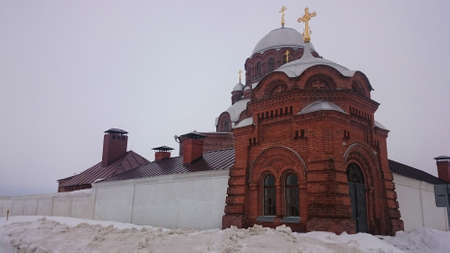 Cathedral of the Icon of the Mother of God Joy of All Who Sorrow 1906 in Sviyazhsk island, Russia