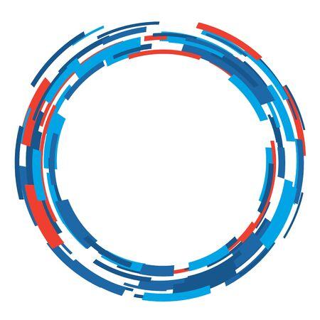 Photo pour Vector abstract circle shape layout design template. Modern background art style. - image libre de droit