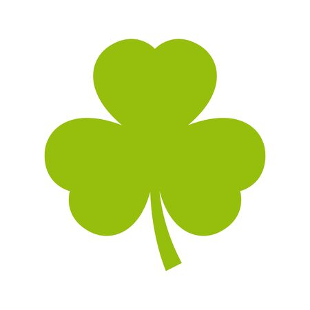 Illustration pour Vector green shamrock. Isolated on white background. - image libre de droit