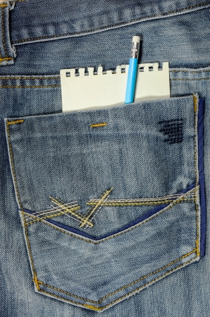 jeans pocket with notebook