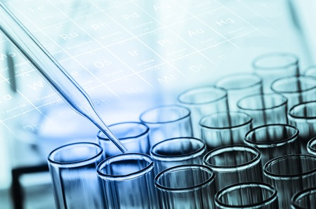 Photo for laboratory test tubes - Royalty Free Image