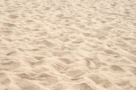 Foto de footprints on the beach sand - Imagen libre de derechos
