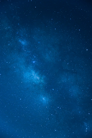Photo for The Milky Way ,Long exposure photograph , Blue tone - Royalty Free Image