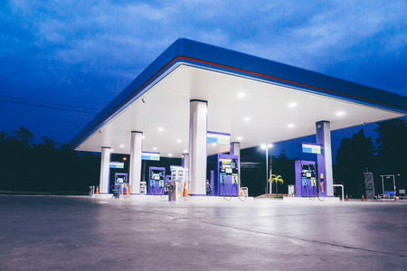 Photo for Gas station at night time - Royalty Free Image