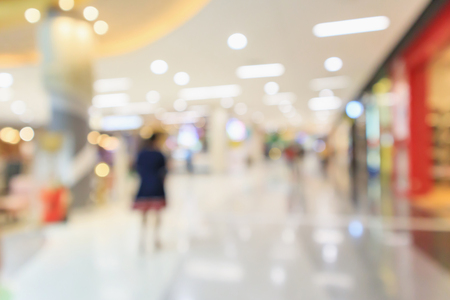 Abstract blur modern shopping mall store interior defocused background