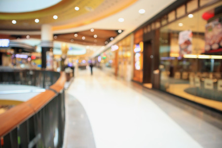 shopping mall interior abstract blur background