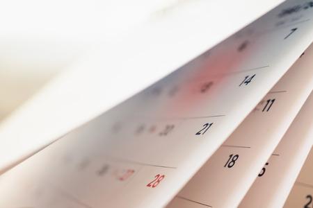 Photo pour Abstract blur calendar page flipping sheet close up background - image libre de droit