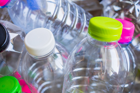 Photo for plastic bottles recycling background concept - Royalty Free Image