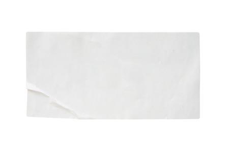 Foto de white paper sticker label isolated on white background - Imagen libre de derechos