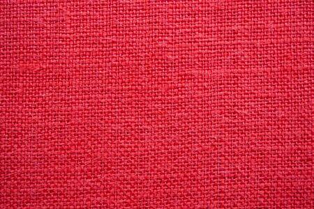 Photo pour Red color linen canvas texture background - image libre de droit