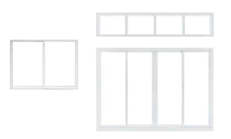 Photo pour Modern house office or frontstore windows frame set collection isolated on white background - image libre de droit