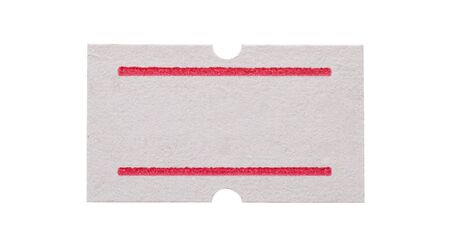 Foto de White paper sticker price isolated on white background - Imagen libre de derechos