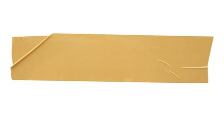 Photo pour Brown adhesive tape isolated on white background - image libre de droit